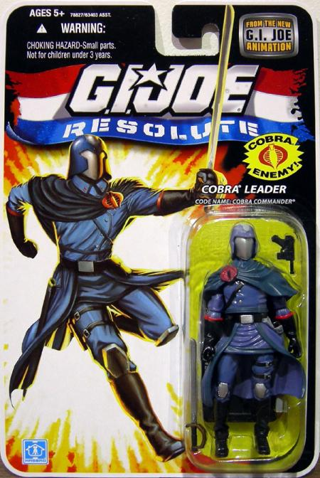 Cobra Leader Resolute Code Name- Cobra Commander action figure