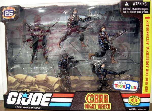 Cobra Night Watch 5-Pack 25th Anniversary action figures