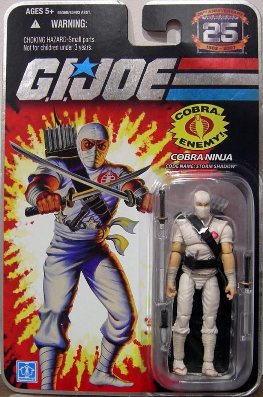 Cobra Ninja Figure Code Name Storm Shadow GI Joe 25th Anniversary