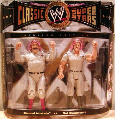 Colonel Mustafa vs Sgt Slaughter Action Figures WWE Classic Jakks Pacific