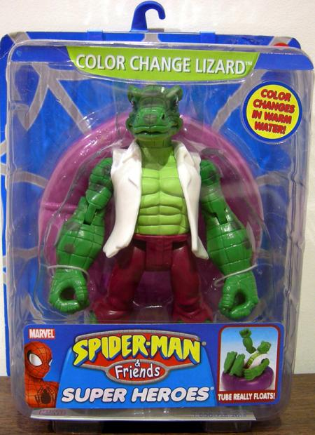 Color Change Lizard Spider-Man Friends action figure