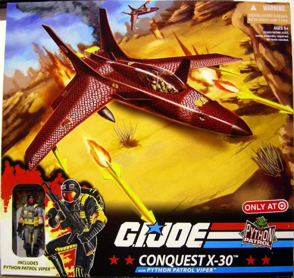 Conquest X-30 Python Patrol Viper GI Joe vehicle action figure