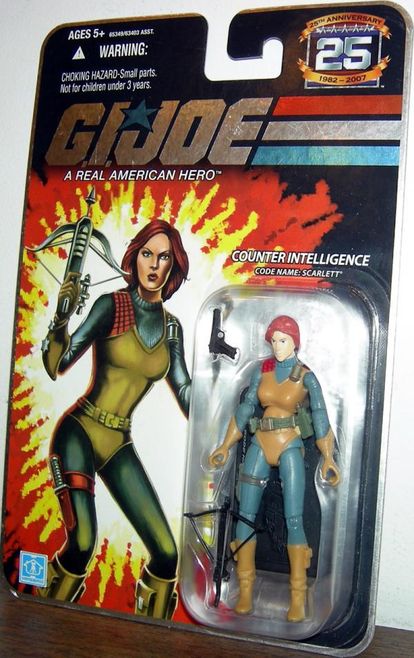 Counter Intelligence Code Name- Scarlett action figure