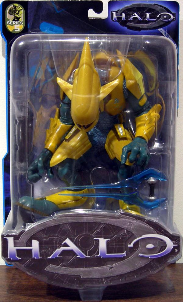 Halo Gold Covenant Elite Series 5 Action Figure Bungie Joyride