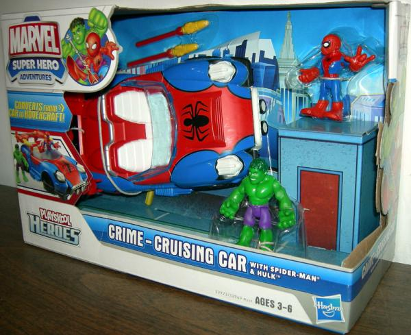 Crime-Cruising Car Vehicle with Spider-Man and Hulk Playskool Heroes