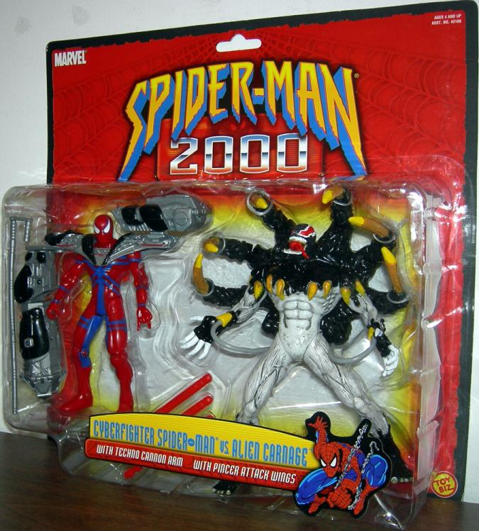 Cyber Fighter Spider-Man vs Alien Carnage Action Figures Toy Biz