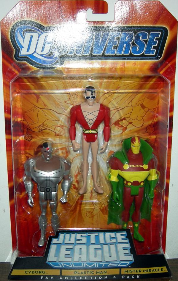Cyborg Plastic Man Mister Miracle Action Figures Fan Collection 3 Pack