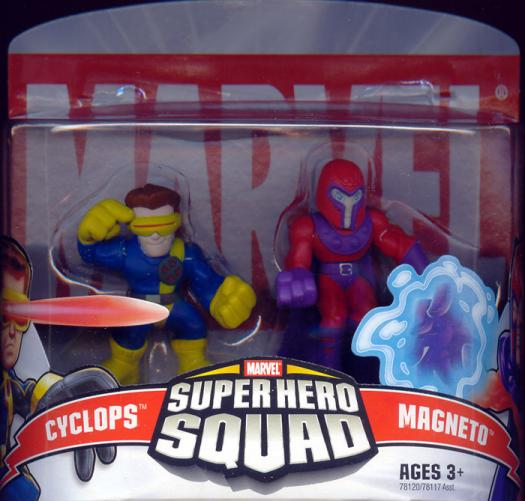 Cyclops Magneto Super Hero Squad Marvel action figures