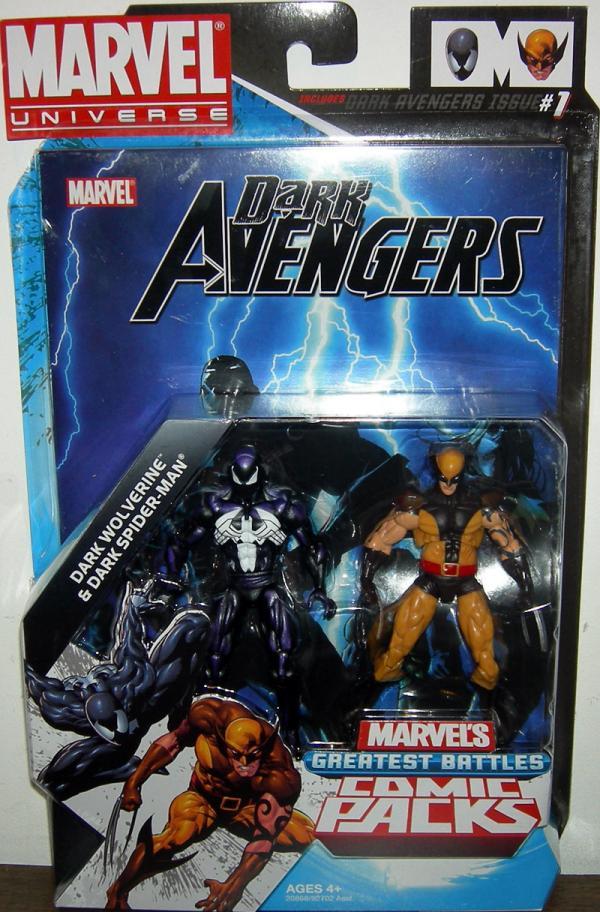 Dark Wolverine Spider-Man Figures Marvel Universe Hasbro