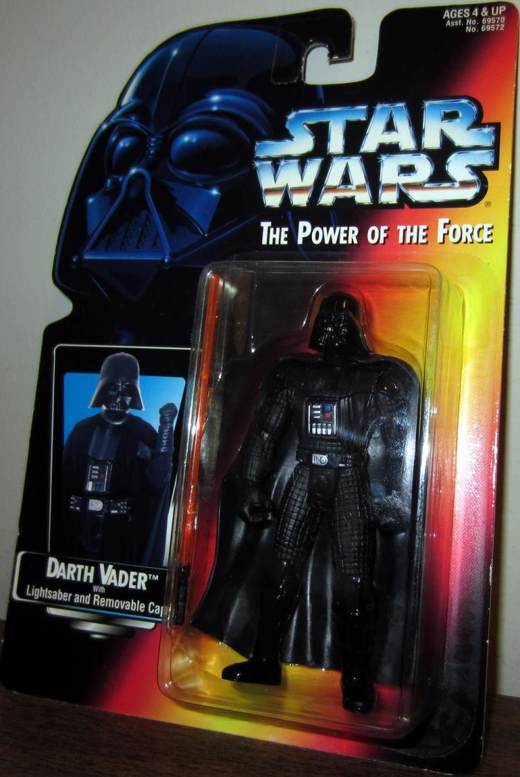 Darth Vader Figure Long Lightsaber Star Wars Power Force