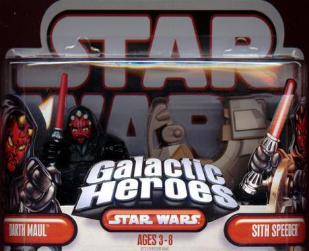 Darth Maul Sith Speeder Figure Galactic Heroes Star Wars