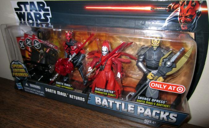 Darth Maul Returns Battle Packs Target Exclusive action figures