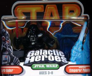 Darth Vader Holographic Emperor Palpatine Galactic Heroes