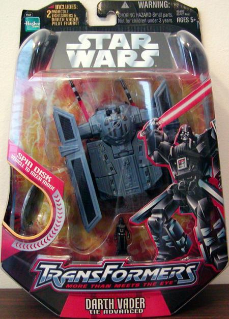 Darth Vader TIE Advanced Transformers Figure Star Wars