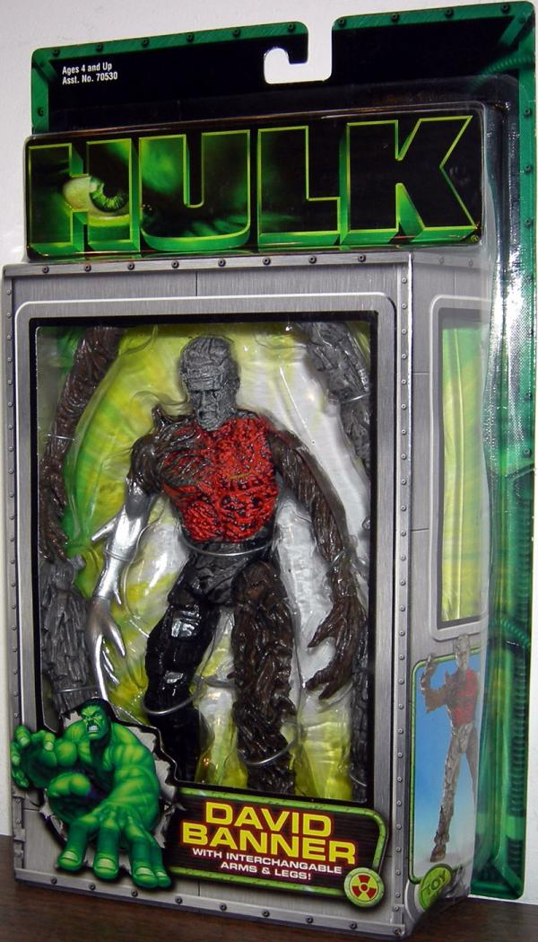 David Banner Hulk Movie Action Figure Toy Biz