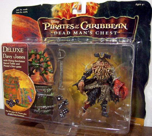 Davy Jones Flying Dutchman Barrel Table Pirates Dice Game action figure