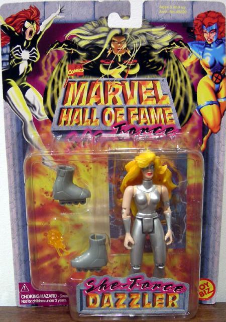 Dazzler Action Figure Marvel Hall Of Fame She-Force Toy Biz