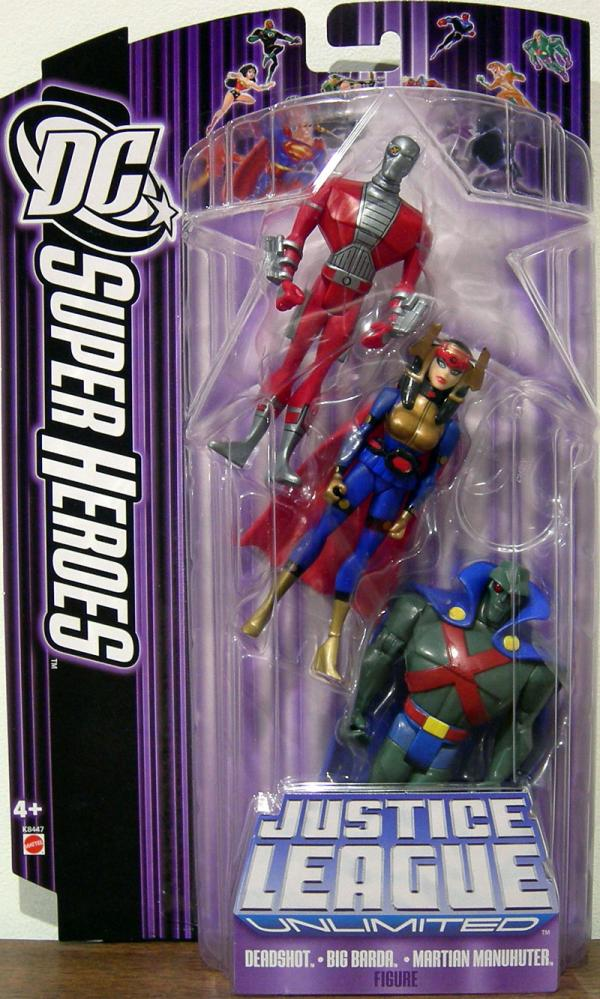 Deadshot, Big Barda Martian Manhunter 3-Pack DC SuperHeroes Justice League Unlimited