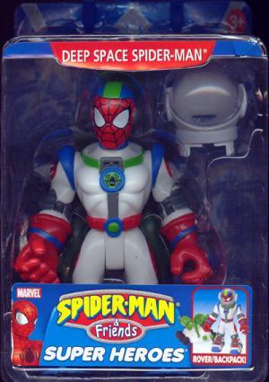 Deep Space Spider-Man Figure Rover Backpack Friends Toy Biz