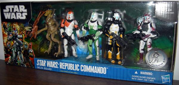 Republic Commando Delta Squad Figures Star Wars