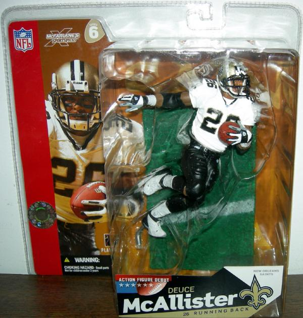 Deuce McAllister Action Figure SportsPicks New Orleans Saints