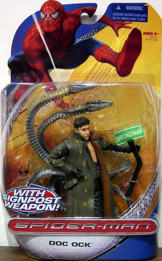 Doc Ock with Sign Post Weapon Trilogy Action Figure Hasbro