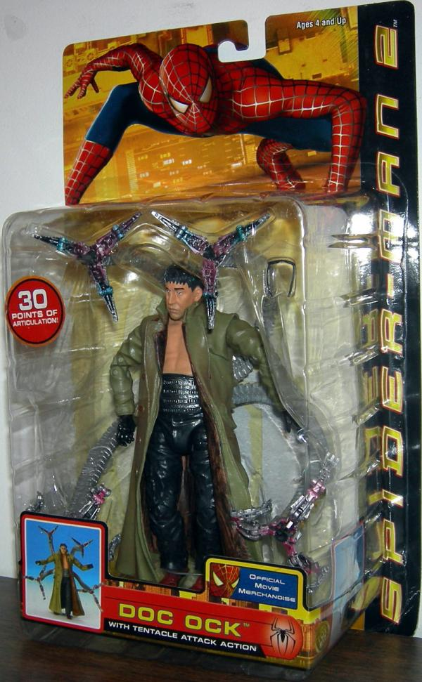 Doc Ock Figure Tentacle Attack Action Spider-Man 2 Movie