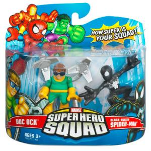 Doc Ock Black-Suited Spider-Man Super Hero Squad