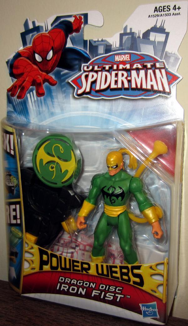 Dragon Disc Iron Fist Spider-Man action figure
