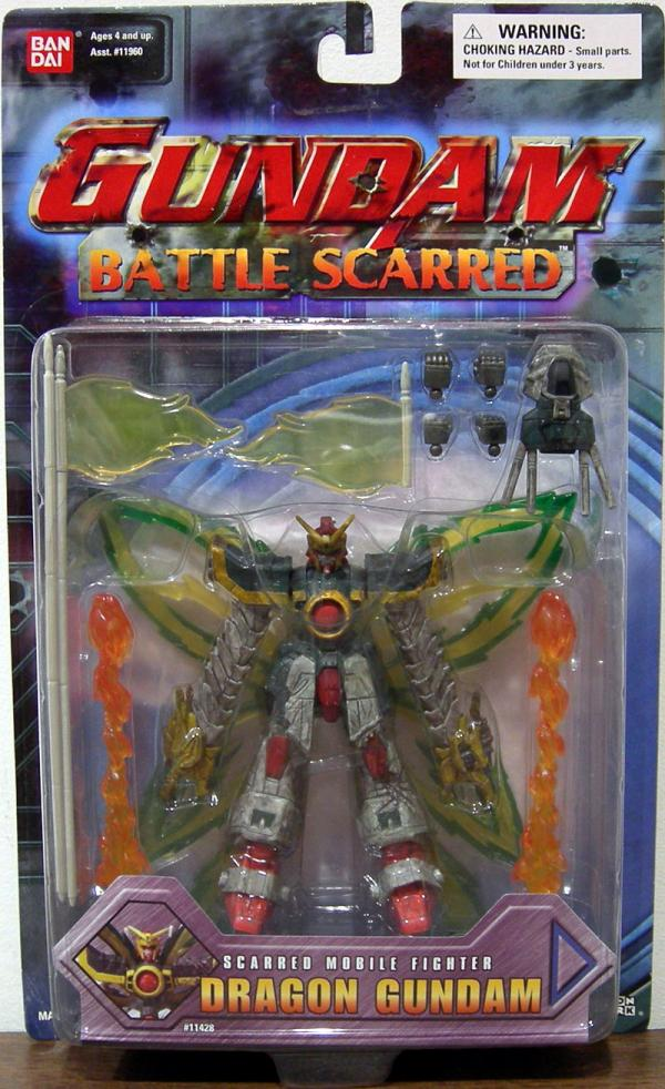 Dragon Gundam Battle Scarred Mobile Fighter action figure
