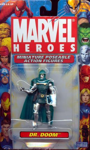 Dr Doom Miniature Poseable Action Figure Marvel Heroes