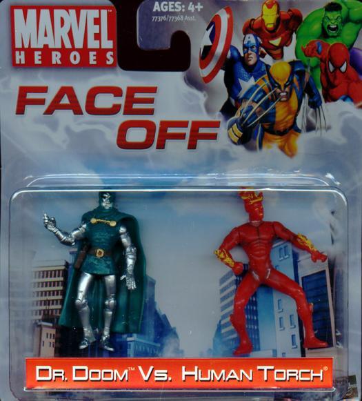 Dr Doom vs Human Torch Face Off