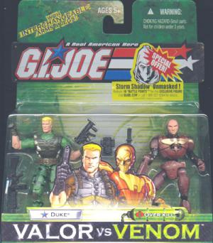 Duke vs Over Kill Action Figures GI Joe Valor vs Venom