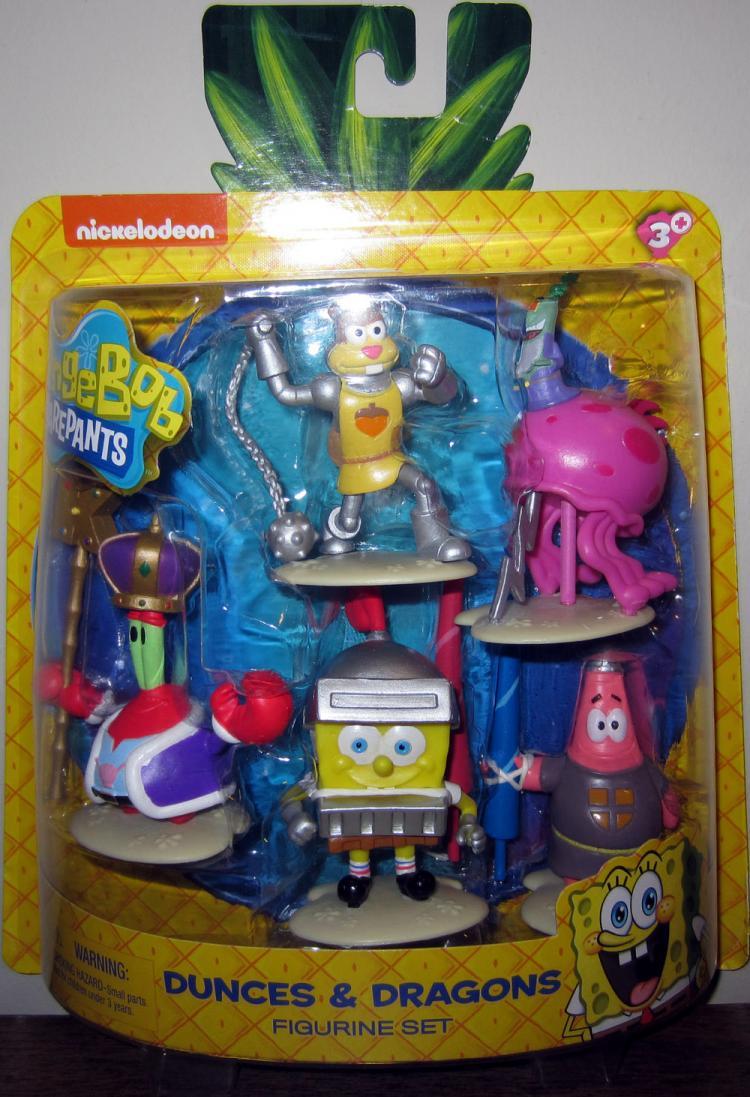 Dunces Dragons Figurine Set SpongeBob Squarepants