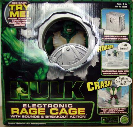 Hulk Electronic Rage Cage Movie with Action Figure Toy Biz