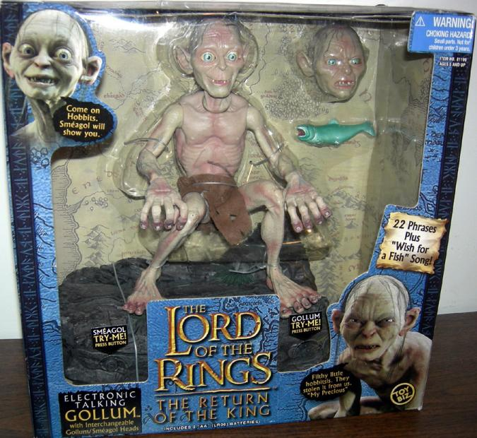 Electronic Talking Gollum Action Figure Lord of the Rings