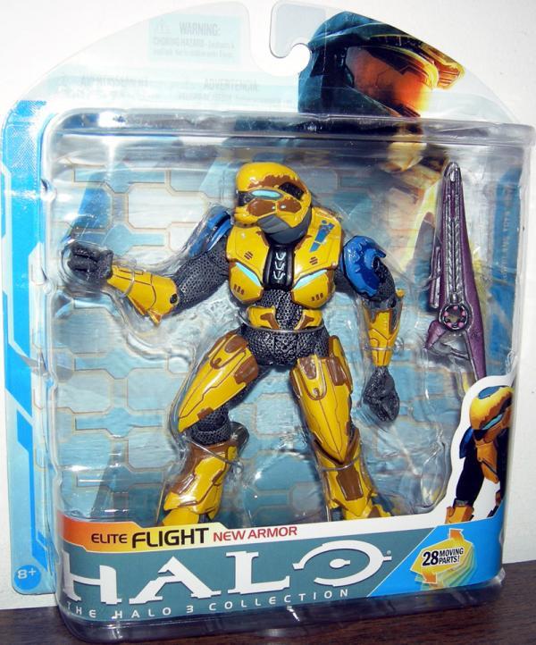 Elite Flight New Armor Yellow Halo 3 action figure