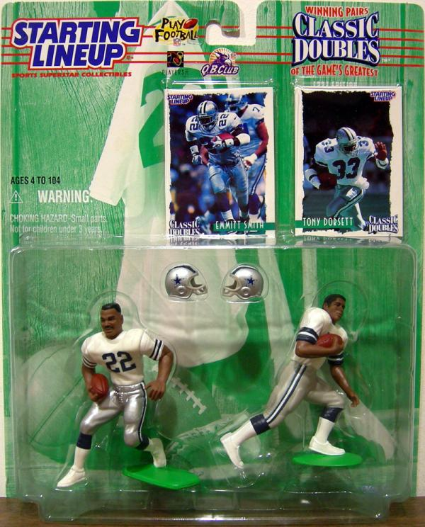 Emmitt Smith Tony Dorsett Starting Lineup Classic Doubles Action Figures