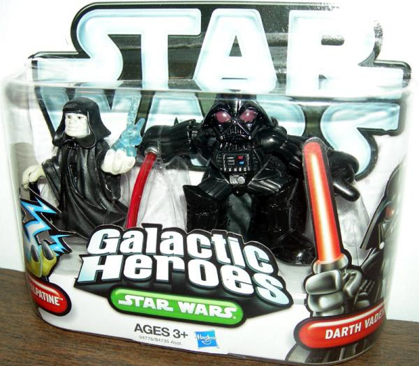Emperor Palpatine Darth Vader Star Wars Galactic Heroes action figures