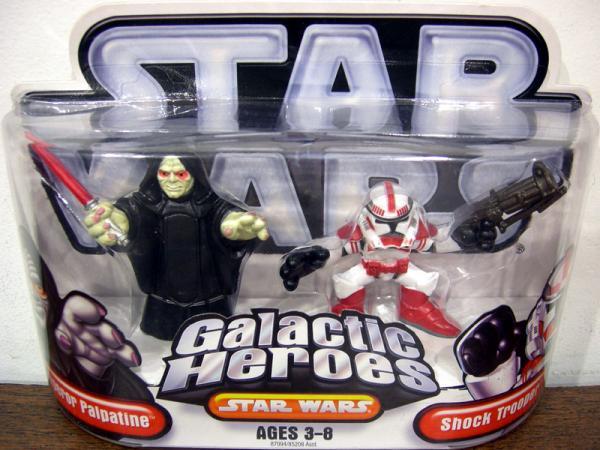Emperor Palpatine Shock Trooper Figures Galactic Heroes
