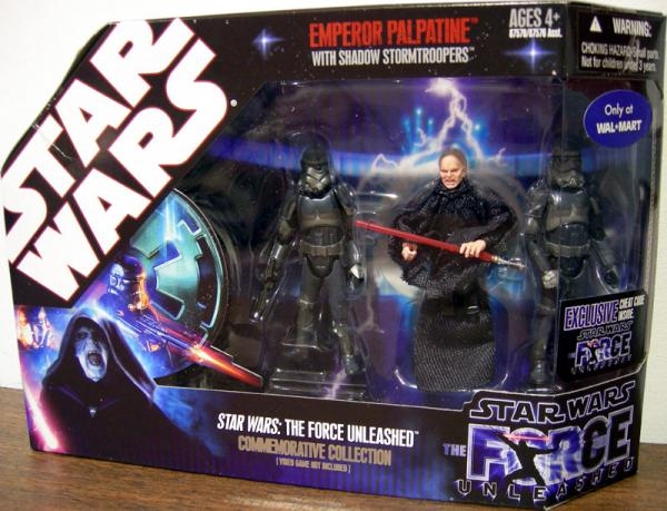 Force Unleashed Emperor Palpatine Shadow Stormtroopers action figures