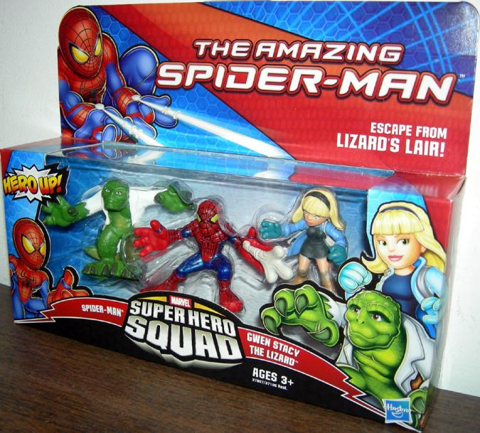 Escape From Lizards Lair Amazing SpiderMan Movie Super Hero Squad action figures