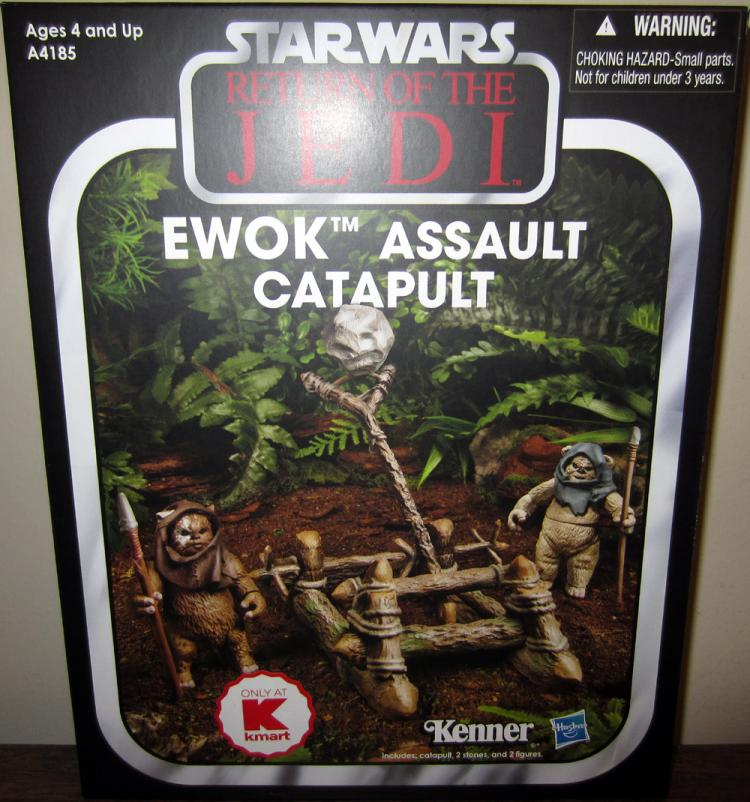 Ewok Assault Catapult kmart Exclusive Star Wars action figures