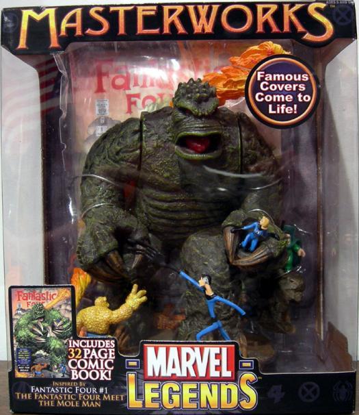 Fantastic Four vs Mole Man Marvel Legends Masterworks