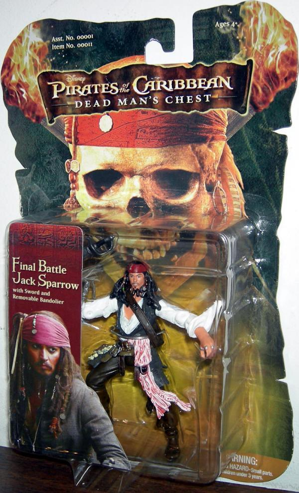 Final Battle Jack Sparrow Pirates Caribbean Dead Mans Chest