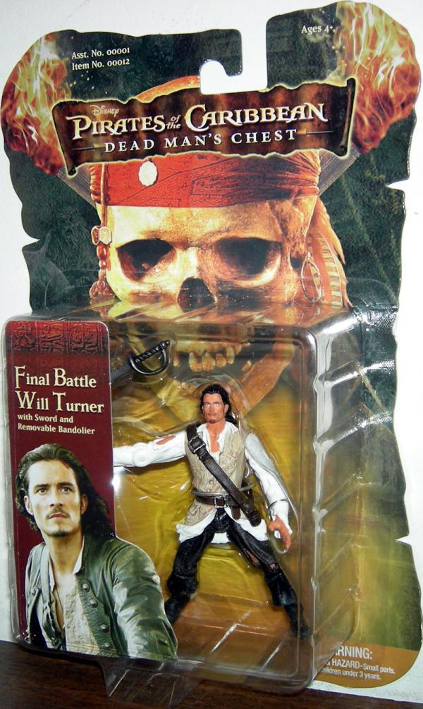 Final Battle Will Turner Pirates Caribbean Dead Mans Chest action figure