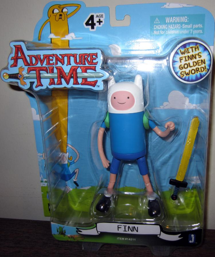 Finn Figure Adventure Time Golden Sword Cartoon Network