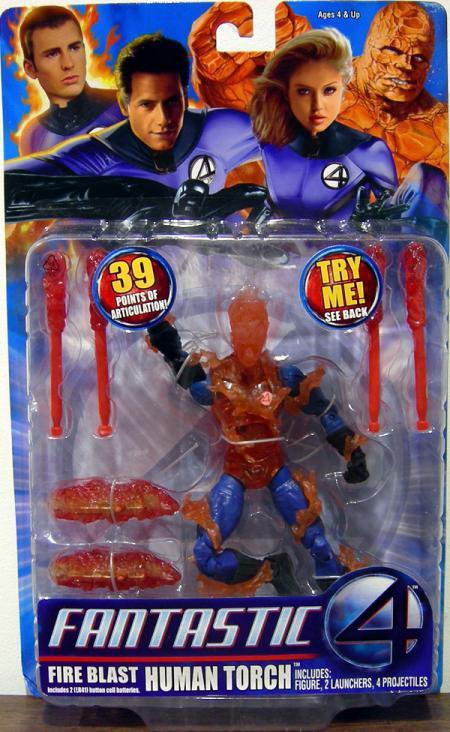 Fire Blast Human Torch Fantastic Four Movie action figure