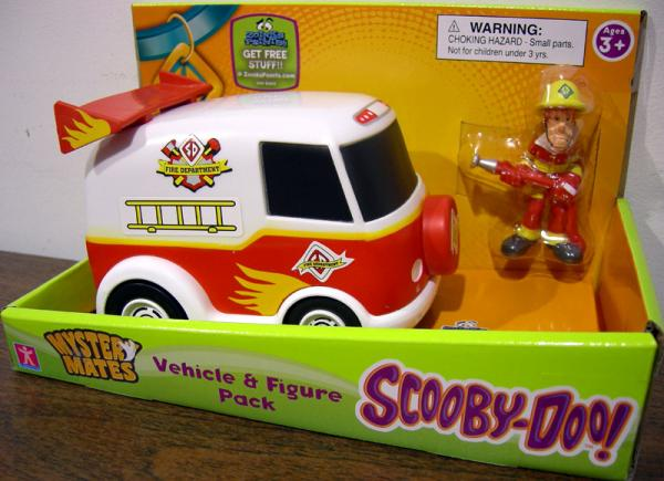 Fire Department Van and Shaggy Action Figure Scooby-Doo Mystery Mates