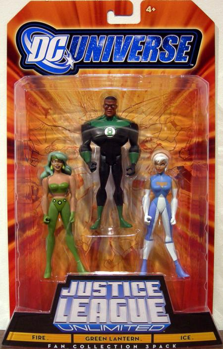 Fire Green Lantern Ice DC Universe Fan Collection action figures